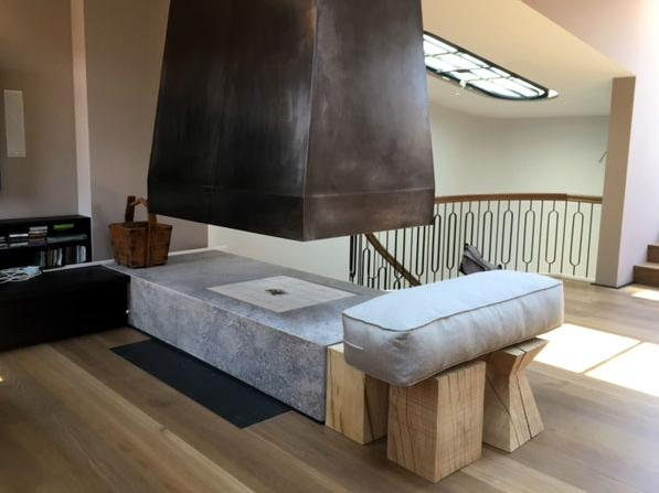 bespoken contemporary fireplace. Black Bedroom Furniture Sets. Home Design Ideas